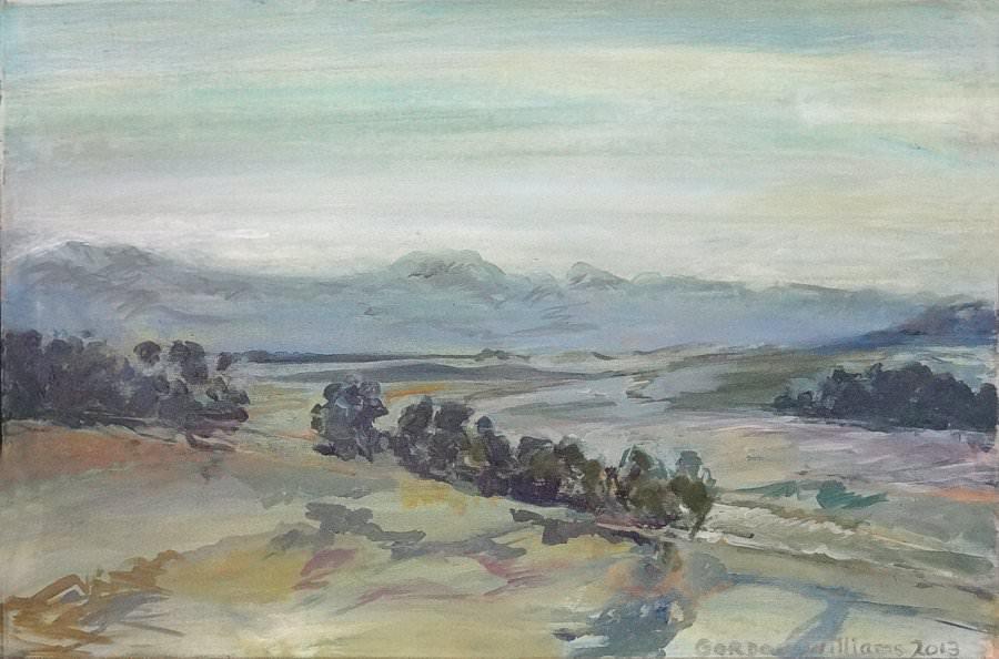 'Paardeberg'  91 x 61 cm