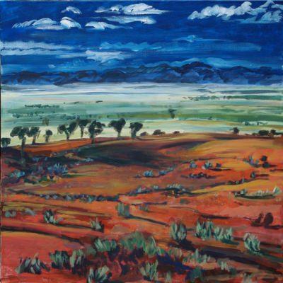 'Burnt Earth'  90 x 90cm