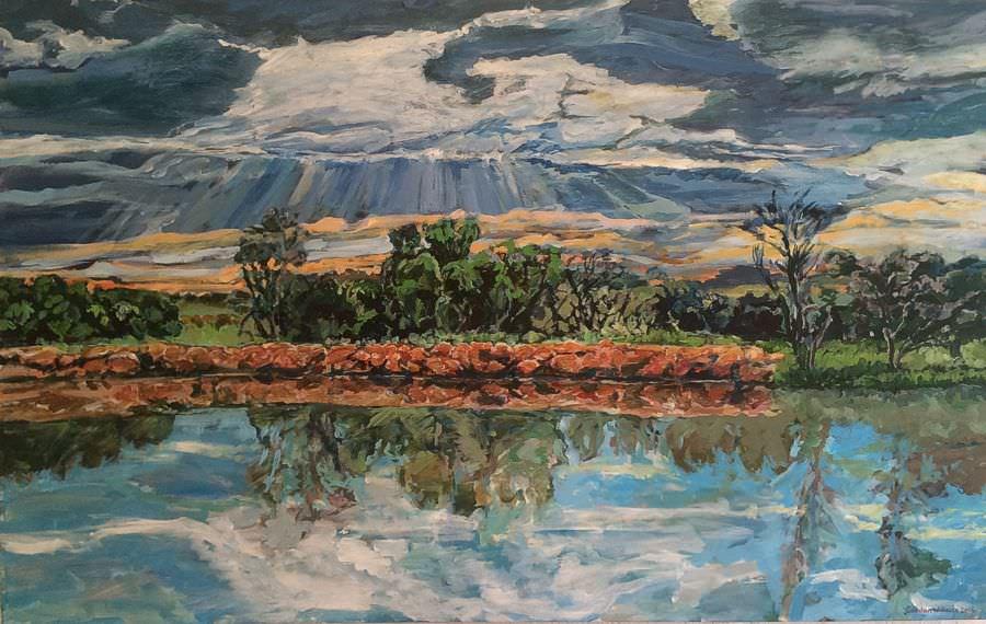 'Prince Albert Sunset'  150 x 95 cm