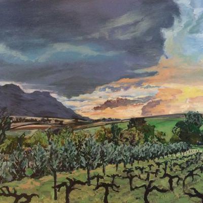 'Kasteelberg Sunset'  120 x 75 cm